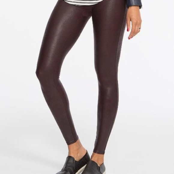 8d64e2e40e95cf NWOT SPANX WINE FAUX LEATHER LEGGINGS * Style 2437.  M_5bf9b7e4534ef91b92996764. Other Pants ...
